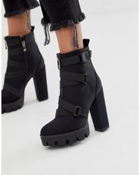 Botines de ante negros de SIMMI Shoes