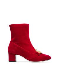 Botines de ante rojos de Gucci