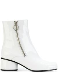 Botines de cuero blancos de Marc Jacobs