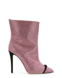 Botines de cuero con adornos rosados de Marco De Vincenzo
