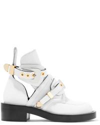 Botines de cuero con recorte blancos de Balenciaga