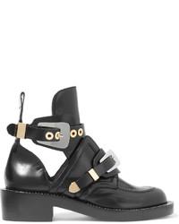 Botines de cuero con recorte negros de Balenciaga