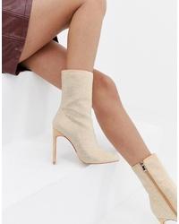 Botines de cuero en beige de SIMMI Shoes