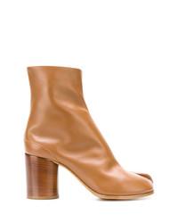 Botines de cuero marrón claro de Maison Margiela