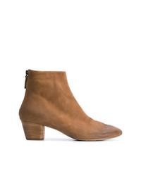 Botines de cuero marrón claro de Marsèll