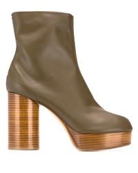 Botines de cuero marrónes de Maison Margiela