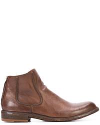 Botines de cuero marrónes de Officine Creative