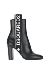 Botines de cuero negros de Dsquared2