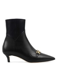 Botines de cuero negros de Gucci