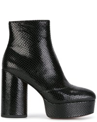 Botines de cuero negros de Marc Jacobs