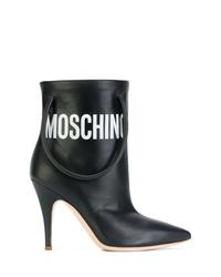 Botines de cuero negros de Moschino