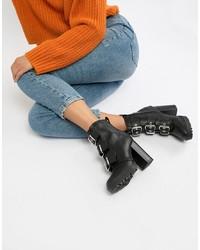 Botines de cuero negros de New Look