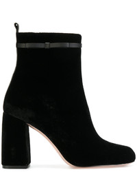 Botines de Cuero Negros de RED Valentino
