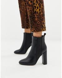 Botines de cuero negros de SIMMI Shoes