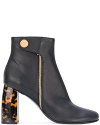Botines de cuero negros de Stella McCartney