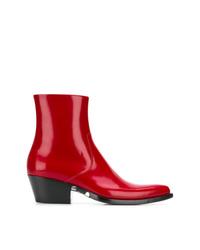 Botines de cuero rojos de Calvin Klein 205W39nyc