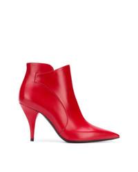 Botines de cuero rojos de Casadei