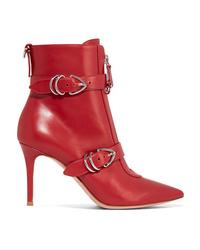 Botines de cuero rojos de Gianvito Rossi