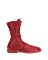 Botines de Cuero Rojos de Guidi