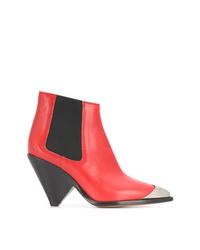 Botines de cuero rojos de Isabel Marant