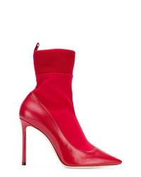 Botines de cuero rojos de Jimmy Choo