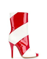 Botines de Cuero Rojos de Maison Margiela
