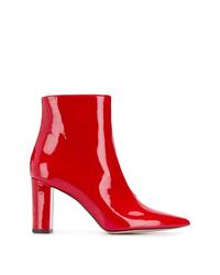 Botines de cuero rojos de Marc Ellis