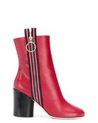 Botines de cuero rojos de Marco De Vincenzo