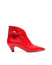 Botines de cuero rojos de Tabitha Simmons