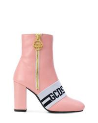 Botines de cuero rosados de Gcds