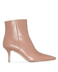 Botines de cuero rosados de Gianvito Rossi