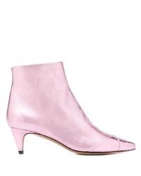 Botines de cuero rosados de Isabel Marant