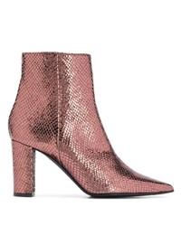 Botines de cuero rosados de Marc Ellis