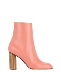 Botines de cuero rosados de Paul Andrew