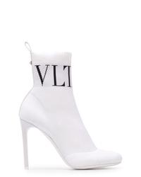 Botines de elástico blancos de Valentino