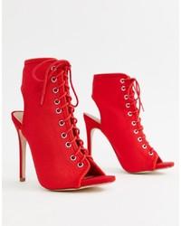 Botines de elástico rojos de New Look