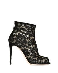 Botines de encaje negros de Dolce & Gabbana