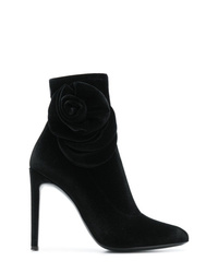 Botines de terciopelo negros de Giuseppe Zanotti Design