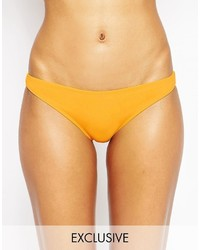 Braguitas de bikini amarillas de Asos