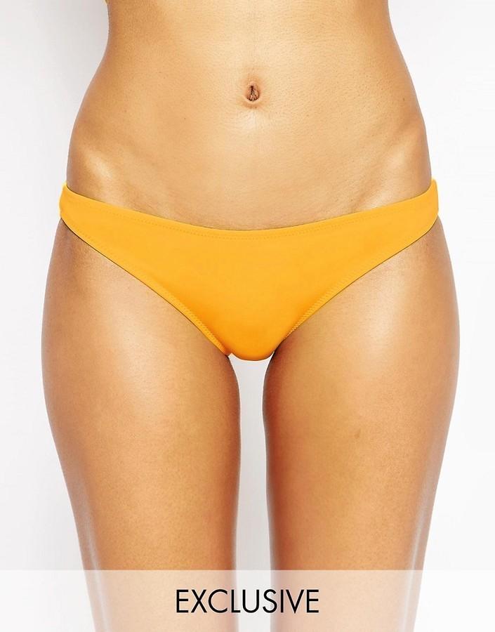 ef5f21d4539b Braguitas de bikini amarillas de Asos