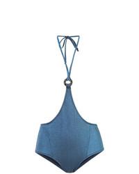 Braguitas de bikini azules de Morgan Lane