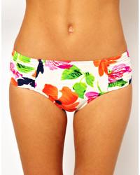 Braguitas de bikini con print de flores en multicolor de Seafolly