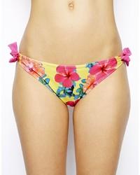 Braguitas de bikini con print de flores en multicolor de South Beach