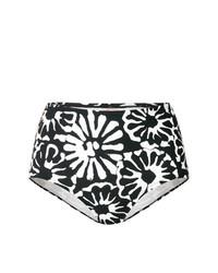 Braguitas de bikini con print de flores negras de Tory Burch