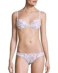 Braguitas de bikini con print de flores rosadas