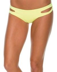 Braguitas de bikini con recorte amarillas