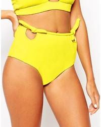 Braguitas de bikini con recorte amarillas de Motel