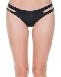 Braguitas de bikini con recorte negras