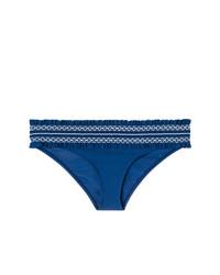 Braguitas de bikini con volante azul marino de Tory Burch