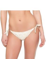 Braguitas de bikini de crochet blancas